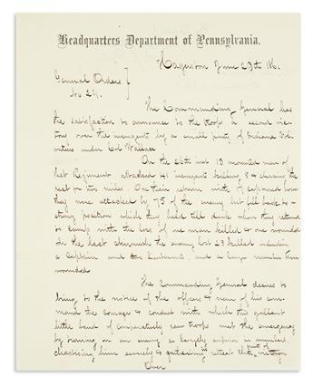 (CIVIL WAR.) Patterson, Robert. Manuscript general order describing a very early Union victory.