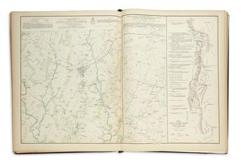 (CIVIL WAR--MAPS.) Cowles, Calvin D., compiler. Atlas to Accompany the Official Records of the Union and Confederate Armies.