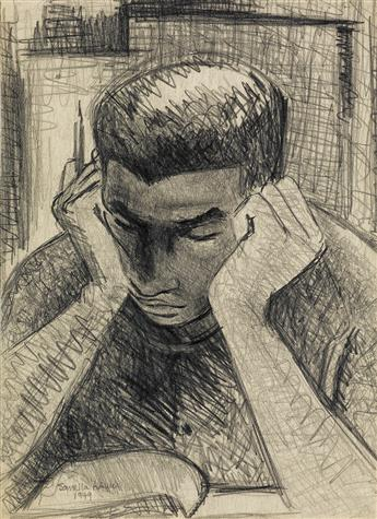 SAMELLA LEWIS (1924 -   ) Untitled (Boy Reading).