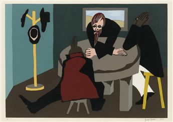 JACOB LAWRENCE (1917 - 2000) N. 7. To the people he found worthy of his trust, he communicated his plans.