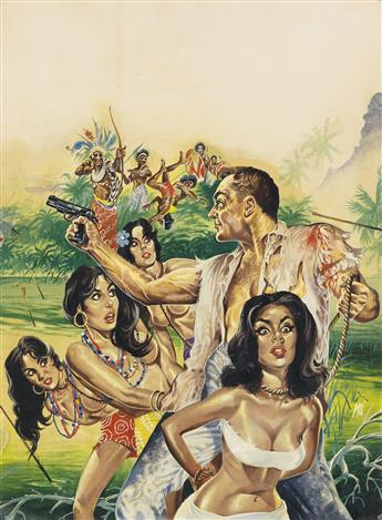 (PULP)  MARK SCHNEIDER. Love Priestess of the Voodoo Moon Cult * Trapped in a Congo Bush War.