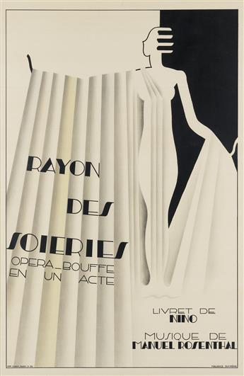 MAURICE DUFRÈNE (1876-1955). RAYON DES SOIERIES. 1930. 46x31 inches, 118x78 cm. Chaix, Paris.