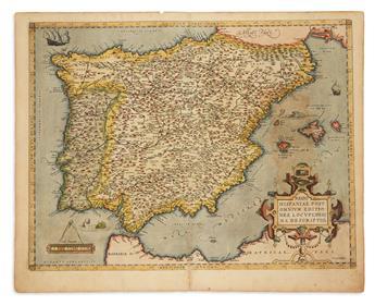 ORTELIUS, ABRAHAM. Regni Hispaniae Post Omnium Editiones Locuplessima Descriptio.