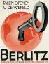 JOS VAN WOERKOM (1902-1992) BERLITZ. Circa 1935. 46x35 inches. N.V. Remaco.
