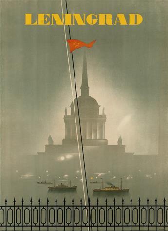 NIKOLAY ZHUKOV (1908-1973). LENINGRAD. 1935. 37x27 inches, 95x69 cm. Intourist, USSR.