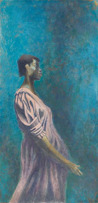 CHARLES WHITE (1918 - 1979) Untitled (Study of a Pregnant Woman).