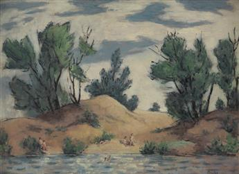 RUSSELL COWLES Landscape with Swimmers.