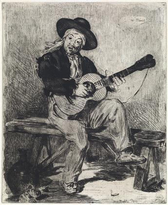 ÉDOUARD MANET Le Guitarero (ou Le Chanteur Espagnol).