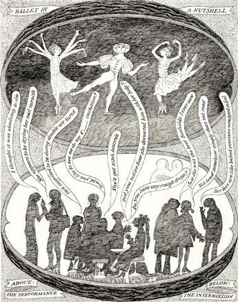 THEATER DANCE EDWARD GOREY. 'Ballet in a Nutshell.'