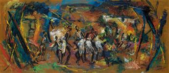 LOÏS MAILOU JONES (1905 - 1998) Fire Dancers.