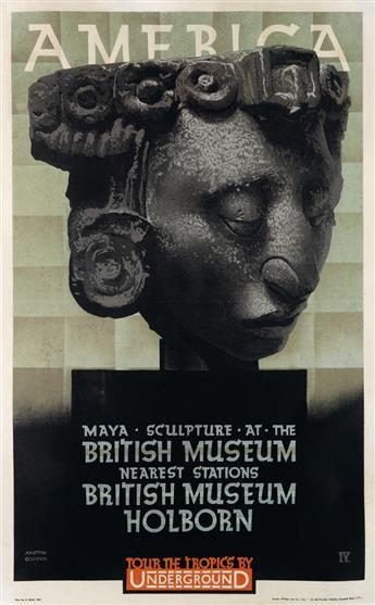 AUSTIN COOPER (1890-1964). AMERICA / TOUR THE TROPICS BY UNDERGROUND. 1930. 39x24 inches, 99x61 cm. The Baynard Press, London.