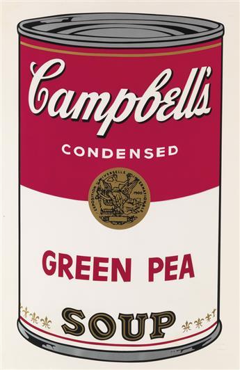 ANDY WARHOL Campbells Soup I: Green Pea.