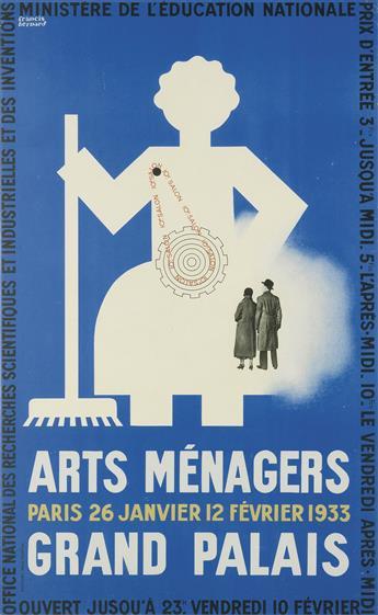 FRANCIS BERNARD (1900-1979). ARTS MÉNAGERS / GRAND PALAIS. 1933. 38x23 inches, 96x59 cm. Paul-Martial, [Paris.]