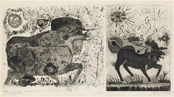 BETYE SAAR (1926 -   ) Two Beasties.