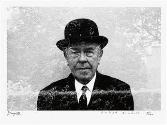 MICHALS, DUANE (1932- ) Magritte.