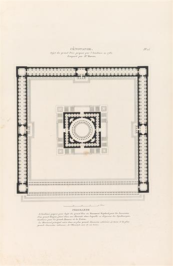 (ARCHITECTURE / ÉCOLE DES BEAUX-ARTS.) Grands Prix dArchitecture - Projets Couronnés par lAcadémie Royale des Beaux Arts de France.