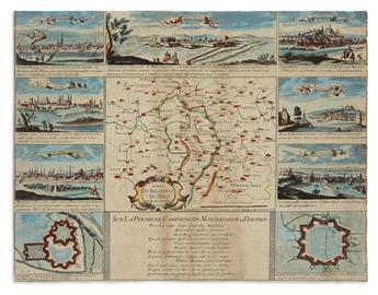 (RHINE RIVER.) Jollian, Francois. Carte du Palatinat du Rhin et de ses Confins.