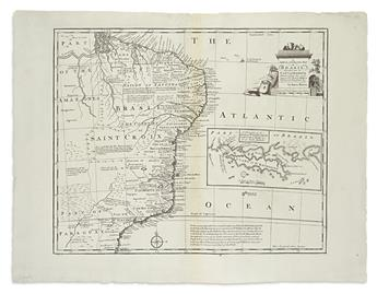(SOUTH AMERICA.) Bowen, Emanuel. Group of 3 double-page engraved maps of South America,