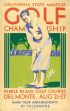 CALIFORNIA STATE AMATEUR GOLF CHAMPIONSHIP. Circa 1932. 22x14 inches.