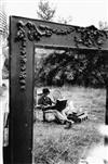 ROBERT FRANK (1924- ) A.B.C. (Portrait of Richard Bellamy at his typewriter).
