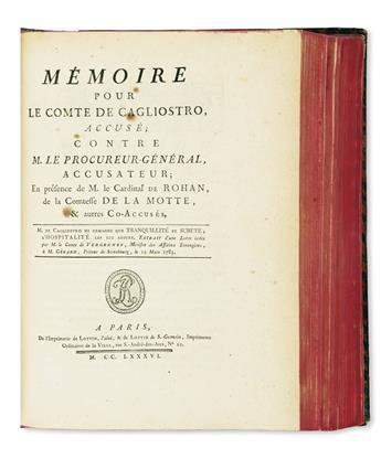 DIAMOND NECKLACE AFFAIR.  Bound volume containing 23 pamphlets.  1786