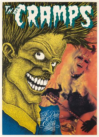 DESIGNER UNKNOWN. THE CRAMPS / A DATE WITH ELVIS. 1986. 33x24 inches, 85x61 cm.