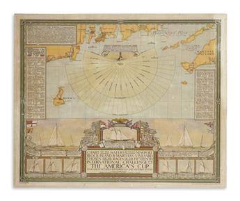 CLEGG, ERNEST. Chart of the Waters Between Newport, Block Island & Martha's Vineyard