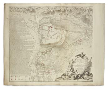 (BATTLE OF MINDEN.) Roy, William; and Schley, J.V. (eng). Plan de la Bataille de Tonhausen près de Minden, Gagnee le 1er Août 1759.