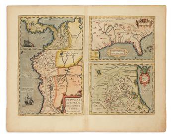 ORTELIUS, ABRAHAM. La Florida / Guastecan / Peruviae.