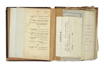 (MASSACHUSETTS.) Harvard scrapbook of Edwin Hale Abbot.