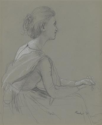 JOHN KOCH Study of Phyllis for Summer Party.