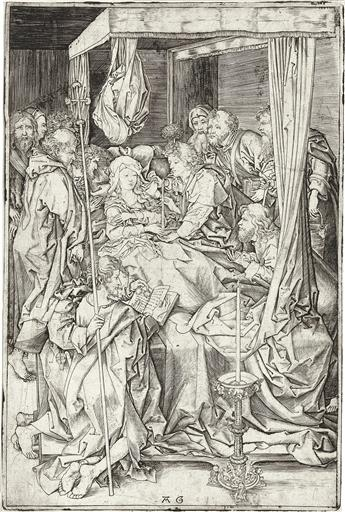 MASTER AG (after Schongauer) The Death of the Virgin