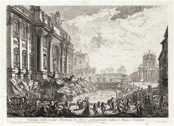 GIOVANNI B. PIRANESI Veduta della vasta Fontana de Trevi anticamente detta l'Acqua Vergine.
