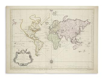 BELLIN, JACQUES NICOLAS, after. An Essay of a New and Compact Map Containing the Known Parts of the Terrestrial Globe.