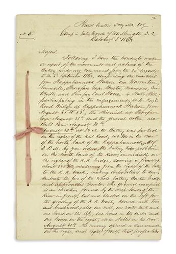 (CIVIL WAR--MAINE.) Leppien, George F. Report on the battles of Rappahannock Station and Second Bull Run.
