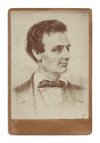 (PHOTOGRAPHY.) Cabinet photograph of the important Grozelier-Hicks-Hesler campaign lithograph.