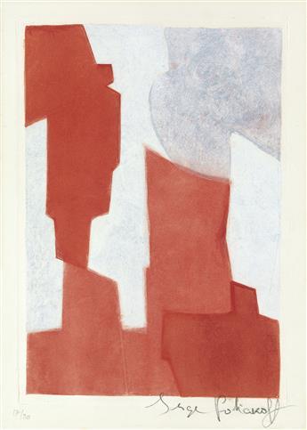 SERGE POLIAKOFF Composition Rouge et Bleue.