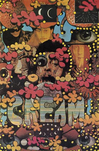 MARTIN SHARP (1942-2013). CREAM. 1967. 30x19 inches, 77x50 cm. [Big O Posters Inc., London.]