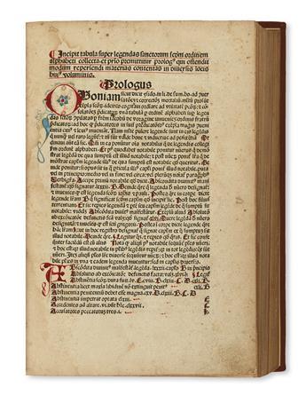 INCUNABULA  VORAGINE, JACOBUS DE. Legenda aurea sanctorum.  1481