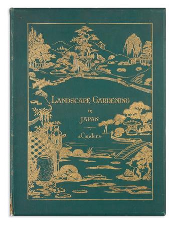 (LANDSCAPE ARCHITECTURE.) Conder, Josiah. Landscape Gardening in Japan.