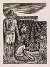 ELIZABETH CATLETT (1915 - ) Mexican Farm Workers.