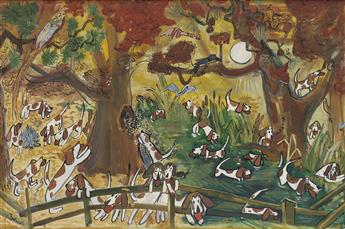 LUDWIG BEMELMANS. (DOGS) So hounds wont know which way he went.