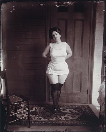 E.J. BELLOCQ (1873-1949)/LEE FRIEDLANDER (1934- ) Storyville portrait.
