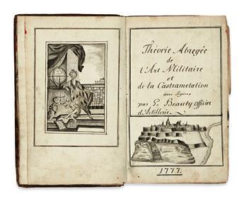 MANUSCRIPT.  Théorie Abrégée de lArt Militaire.  Illustrated manuscript in French on paper.  1777