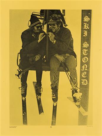 JAMES R. SHARP (DATES UNKNOWN). SKI STONED. 1970. 28x21 inches, 72x54 cm. Dist. Imports International, Denver, Colorado.