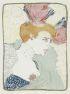 HENRI TOULOUSE-LAUTREC Mademoiselle Marcelle Lender, en buste.