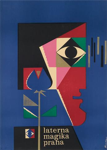 VLADIMIR FUKA (1926-1977). LATERNA MAGIKA PRAHA. 1963. 32x22 inches, 81x57 cm.