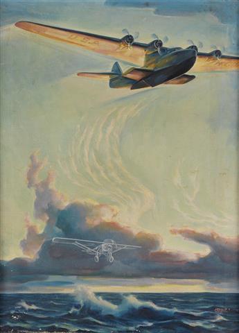 WILLIAM HEASLIP. (AVIATION) Airplane.