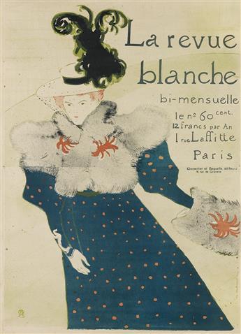 HENRI DE TOULOUSE-LAUTREC (1864-1901). LA REVUE BLANCHE. 1895. 50x36 inches, 127x92 cm. Edw. Ancourt, Paris.