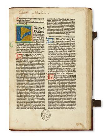 INCUNABULA  GUILLERMUS PARISIENSIS. Postilla super epistolas et evangelia.  1488